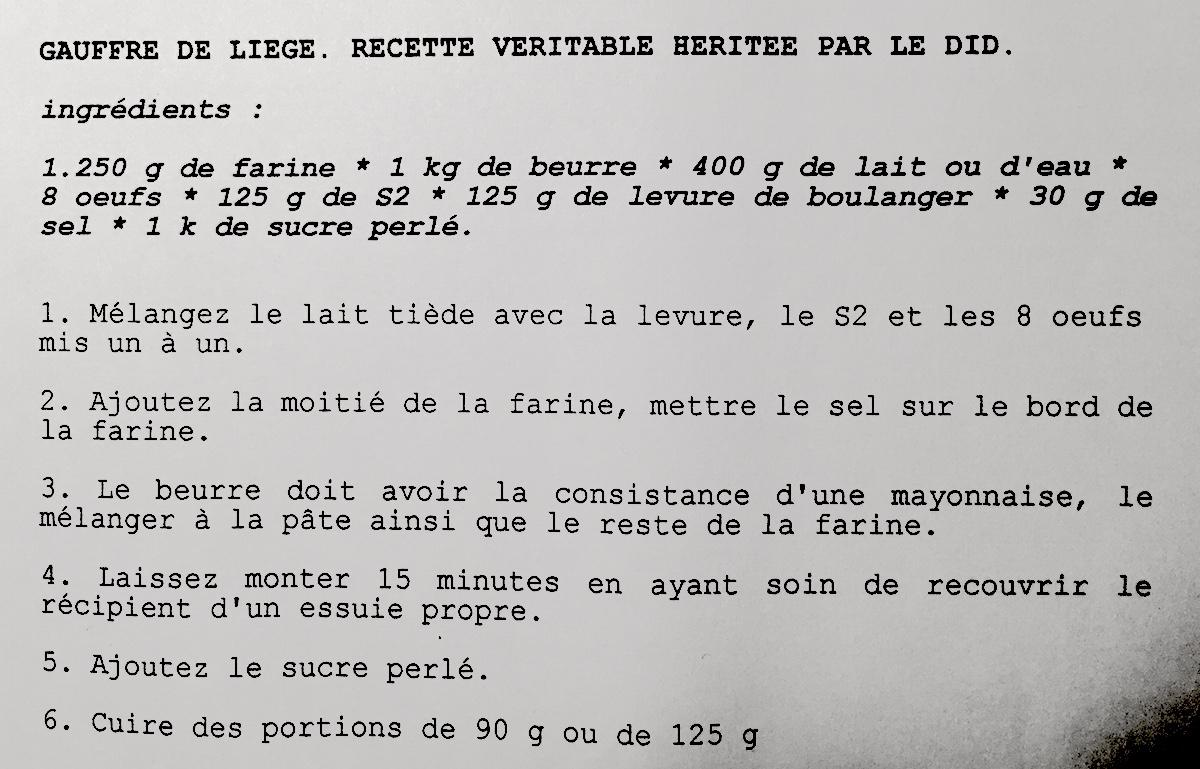 Gaufres belges veritables