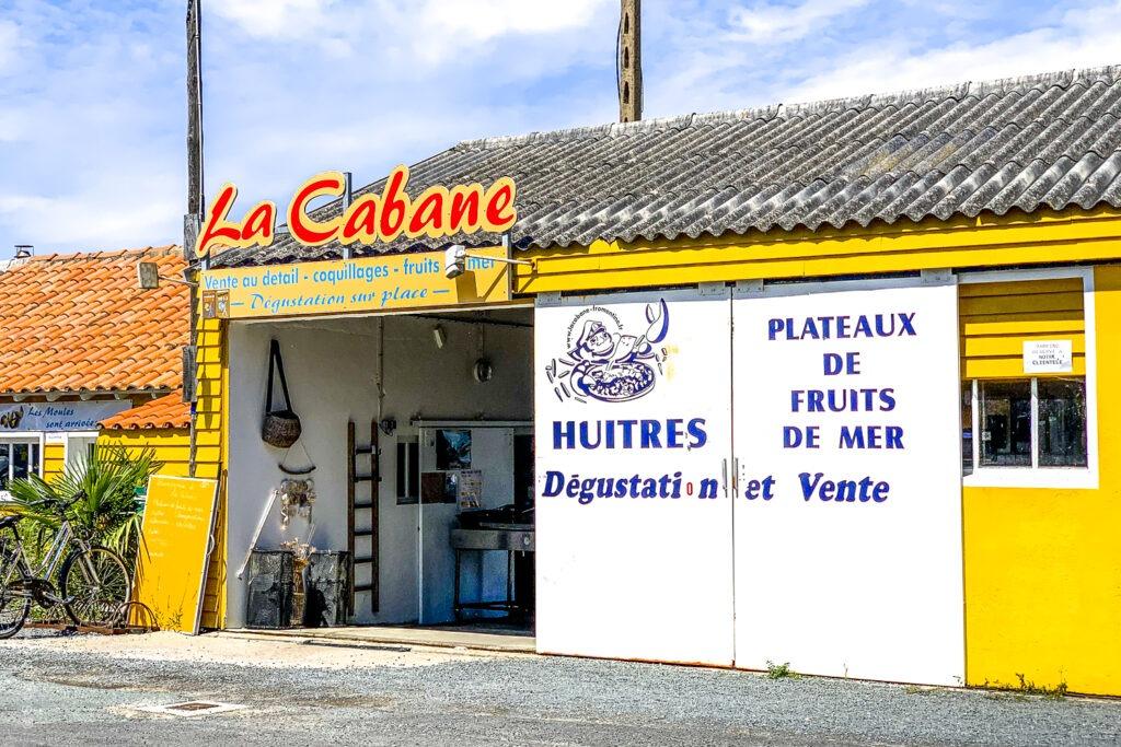 … Aime manger des huîtres là où elles sont élevées – La cabane, Fromentine